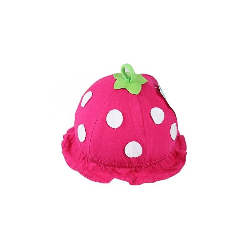 28a7676b2fd Bonnet bébé modèle fraise en coton 0-1 an