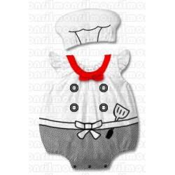 Ensemble déguisement 2 pièces bébé, modèle Chef cuisto de 0 à 2 ans