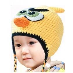Bonnet angry bird jaune 1 à 3 ans