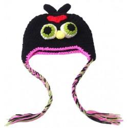 Bonnet angry bird noir 1 à 3 ans
