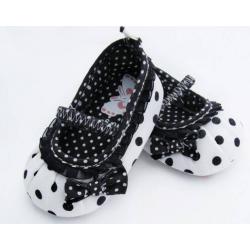 Chaussure souple bébé 3 à 15 mois modèle ballerine polka pink