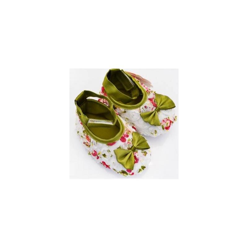 chaussure souple b b 0 15 mois mod le ballerine soie fleurie. Black Bedroom Furniture Sets. Home Design Ideas