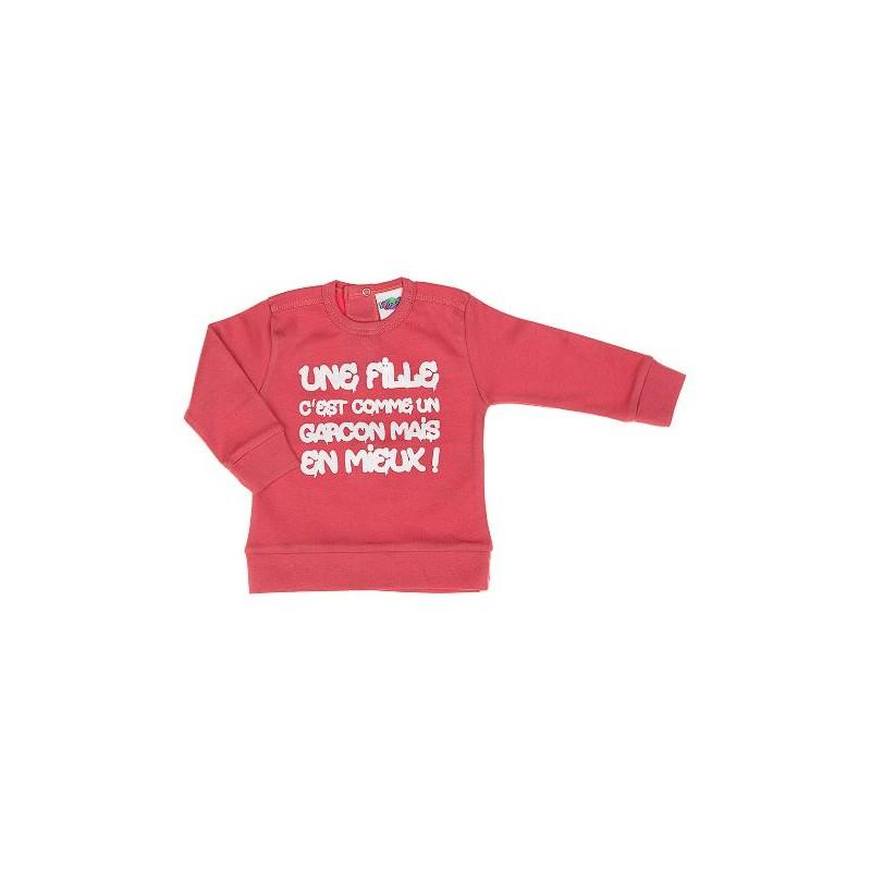 """Tee Shirt """"Une fille c'est comme un garçon mais en mieux"""" thème TOO COOL FOR YOU"""