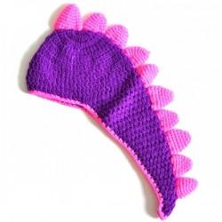 Bonnet Dino violet 6 mois à 3 ans