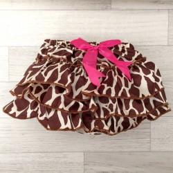 Jupe culotte bébé bloomer,cache couche,Modèle Girafe de 0 à 3 ans