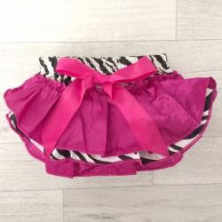 Jupe culotte bébé bloomer,cache couche,Modèle zèbre fushia