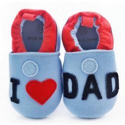 Chausson bébé modèle J'aime papa