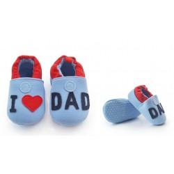 12806a6bc60b5 Chausson bébé modèle J aime papa