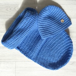 Set cocon + bonnet bleu 0/3mois