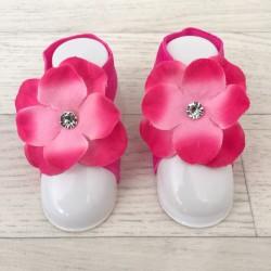 """Accéssoire, couvres pieds modèle """"Orchidée Strass"""" fushia"""