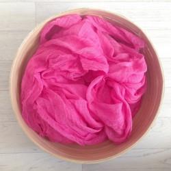 Couverture grandes dimensions en coton tissé, modèle rose foncé