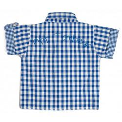 """Chemise """"P'tit tombeur"""" vichy bleu thème Une journée à la campagne"""