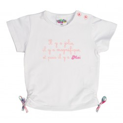 """T shirt liens """"Il y a jolie..."""" thème MARIE-GALANTE"""