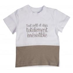 """Tee shirt MC """"Totalement irrésistible"""" thème Les petits amours"""