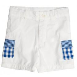 Bermuda poches vichy bleu thème Une journée à la campagne