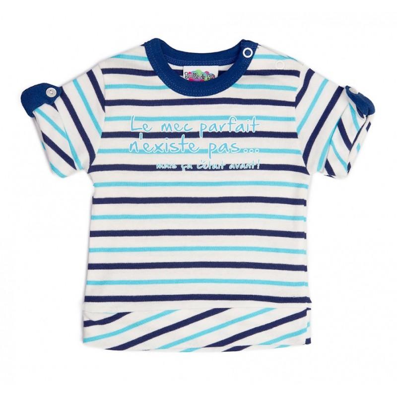 "Tee shirt MC ""Beau gosse"", thème LES FLOTS BLEUS"