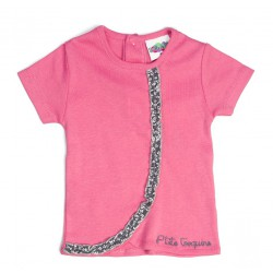 """Tee shirt portefeuille """"P'tite coquine"""" thème LES FILLES EN FLEUR"""
