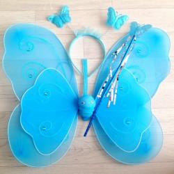 Fée Papillon strass Turquoise - Déguisement costume bébé/enfant 2 à 10 ans