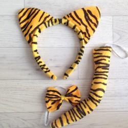 Déguisement set 3 pièces Tigre, taille unique enfant/adulte