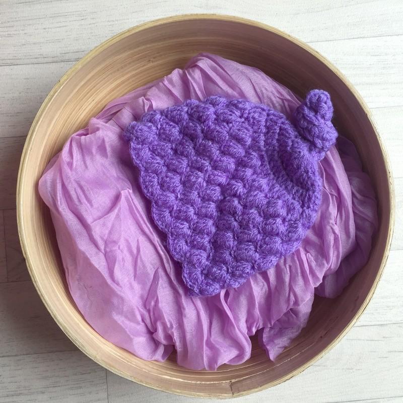 Lila. Set wrap coton + bonnet séance photo new born