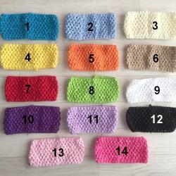 Bandeaux crochet élastique, largeur 7 cm