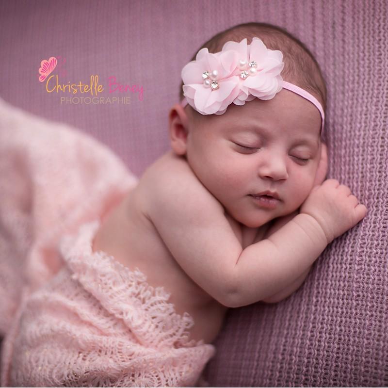Bandeau Cheveux Bebe Fille Modele Rose A