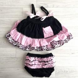 Ensemble bébé : robe + bloomer  0 à 3 ans
