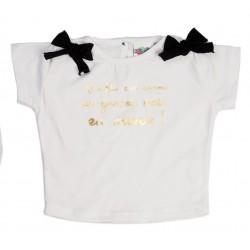"""T shirt 3Une fille c'est comme..."""", thème CHIC EN NOIR ET BLANC"""