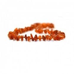 Collier Ambre pour adulte pépites Caramel, 45 cm