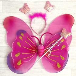 Fée Papillon fuchsia nuancé - Déguisement costume bébé/enfant 2 à 10 ans