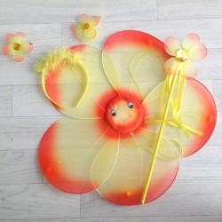 Fée Fleur orange - Déguisement costume bébé/enfant 2 à 10 ans