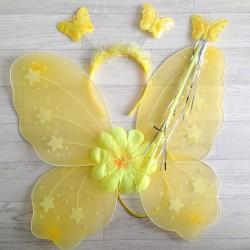 Fée Papillon jaune soleil - Déguisement costume bébé/enfant 2 à 10 ans