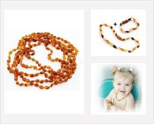 Les beans, bijoux d'Ambre pour bébé forme grain de café
