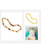 Collier d'ambre pour bébé forme bean