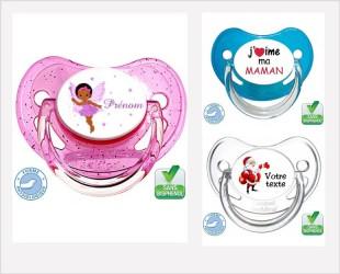 Sucette de bébé, personnalisée, physiologique...