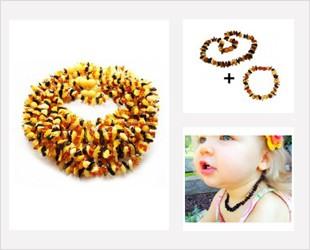 Les Pépites, bijoux d'Ambre pour bébé forme plate