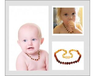 Les colliers d' Ambre pour bébé forme bille