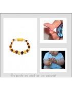Bracelet élastique en Ambre pour bébé à bas prix