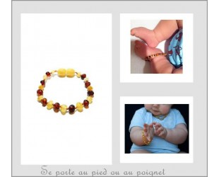 Les bracelets d' Ambre pour bébé forme bille