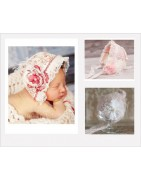 Bonnets vintages séance photos new-born