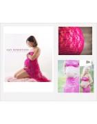 Wraps dentelle maternité pour photo