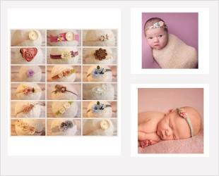 Bandeaux spécial séance photographies artistiques bébés
