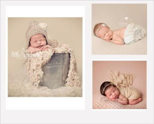Poses bébé et backdrops texturés