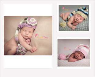 Bonnets Elf pour shooting nouveaux nés et bébés