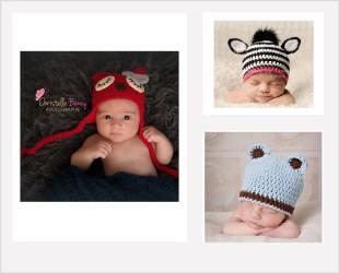 Bonnets Animaux pour nouveaux nés et bébés