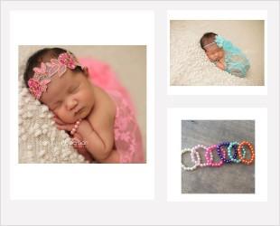 Bijoux nouveaux nés pour séance photos