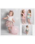 Vêtement enfants printemps été, robes, maillots de bain.