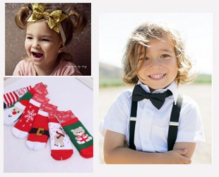 Accessoires de Noël (bandeaux, barrettes, cravate...)