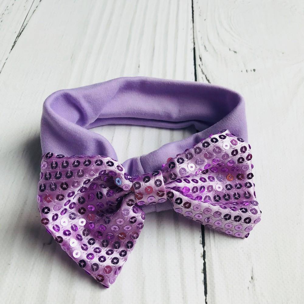 Bandeaux et noeud violet