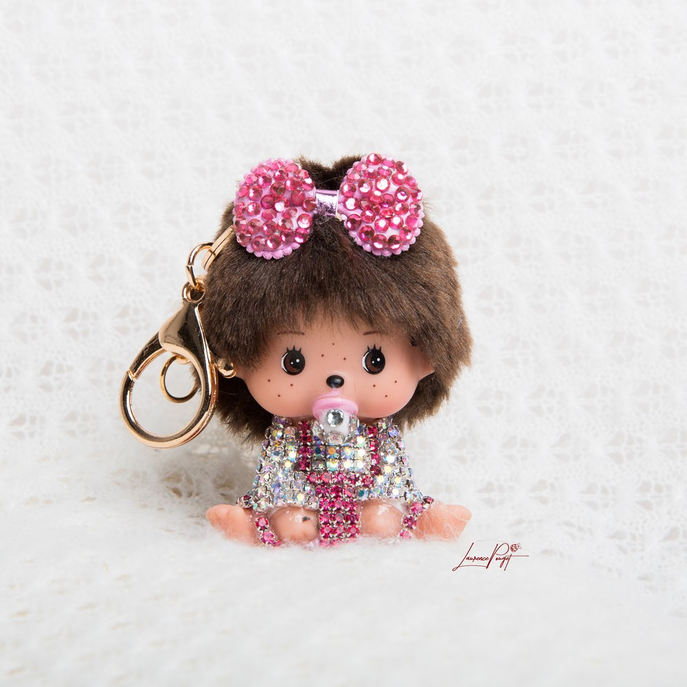 All strass silver/pink